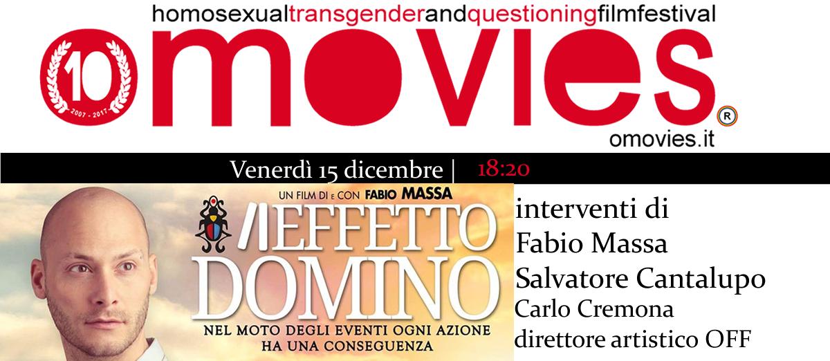 Proiezione Aeffetto Domino di Fabio Massa- Vincitore Premio #VincenzoRuggiero