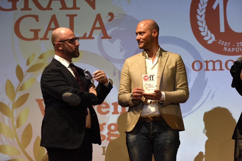 il vincitore del premio Vincenzo Ruggiero - Aeffetto Domino - Fabio Massa off10