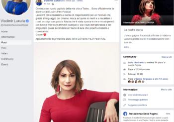 Breaking News: Vladimir Luxuria è la nuova direttrice del Lovers Film Festival