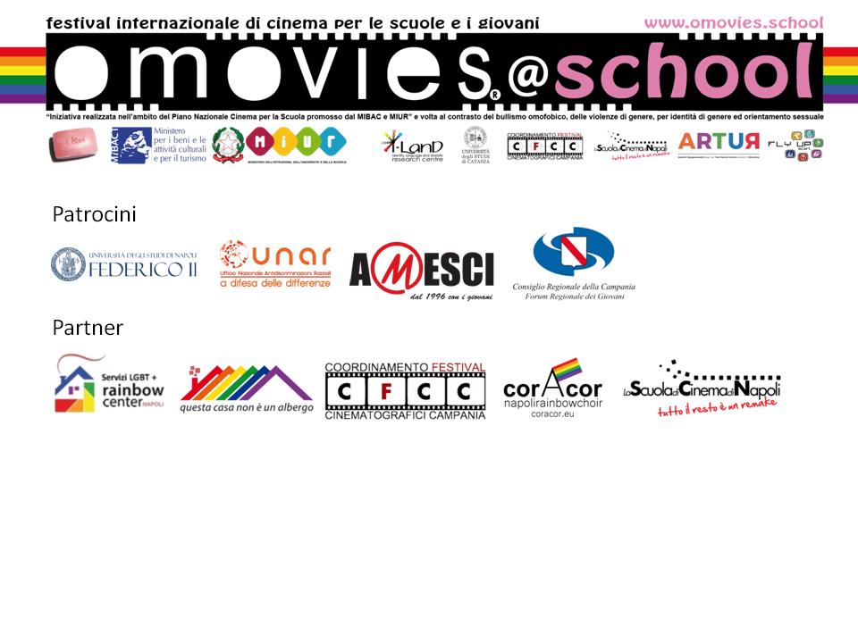 Dal 21 al 28 giugno si terrà Omovies@School, il festival internazionale che coinvolge giovani e scuole: nelle giurie studenti da istituti di Napoli, Roma e Milano