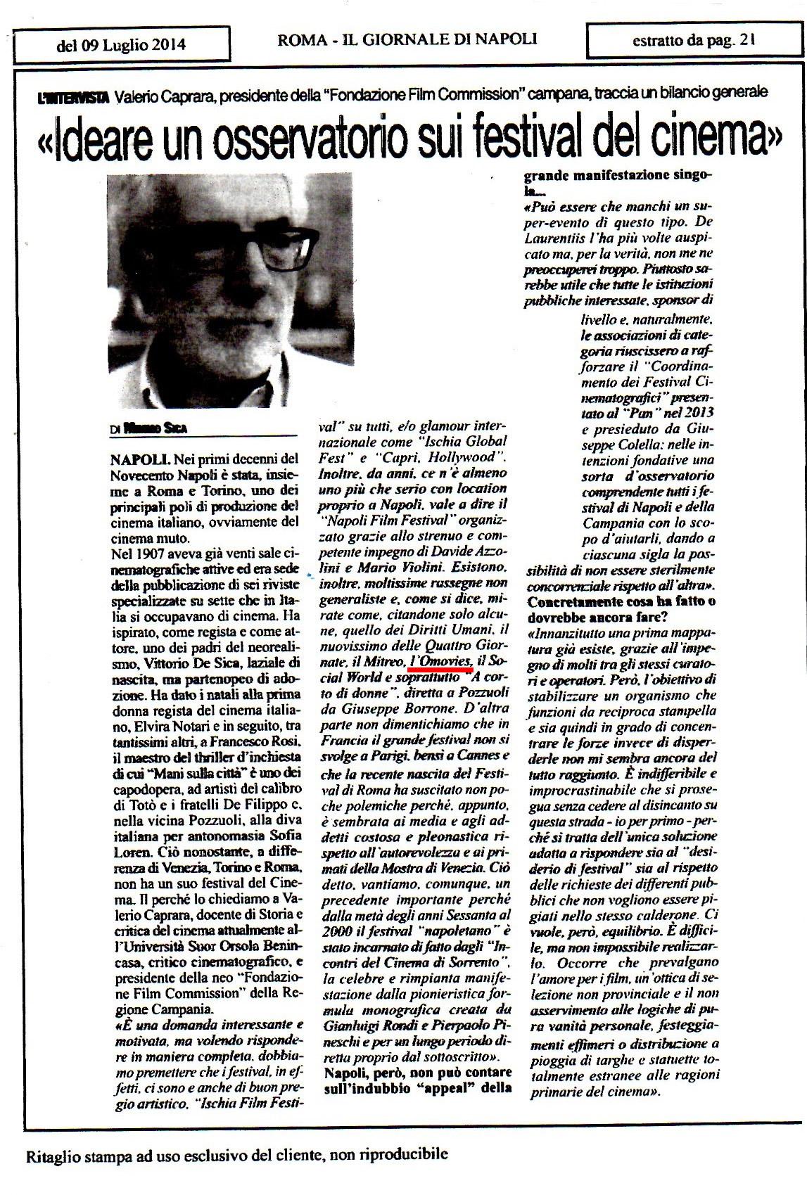Omovies citata da Valerio Caprara in un articolo in cui parla della buona prassi del CFCC di cui siamo co-fondatori.