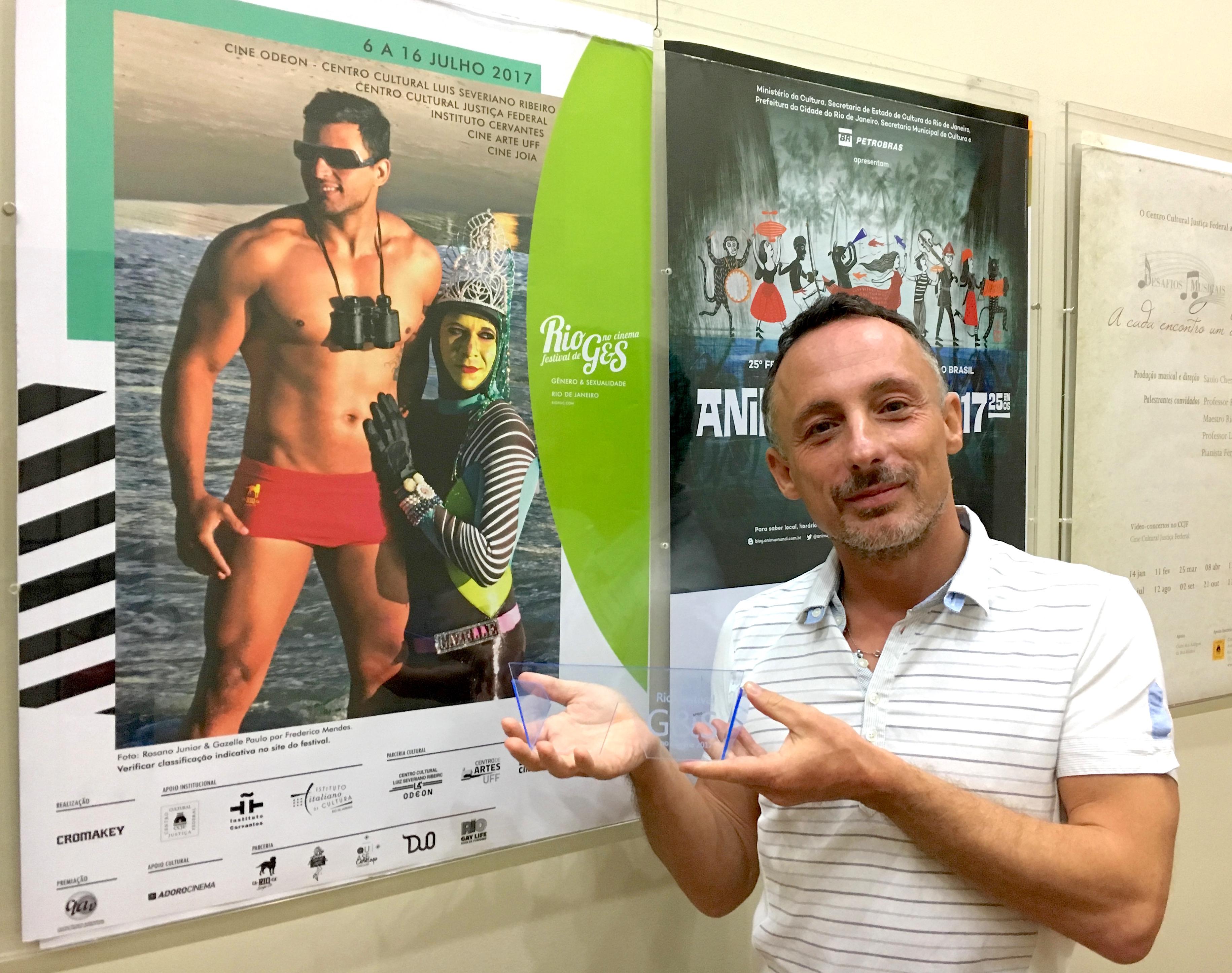 Auguri a Bucci che guadagna una Menzione speciale al Rio Festival de Gênero & Sexualidade no Cinema 2017