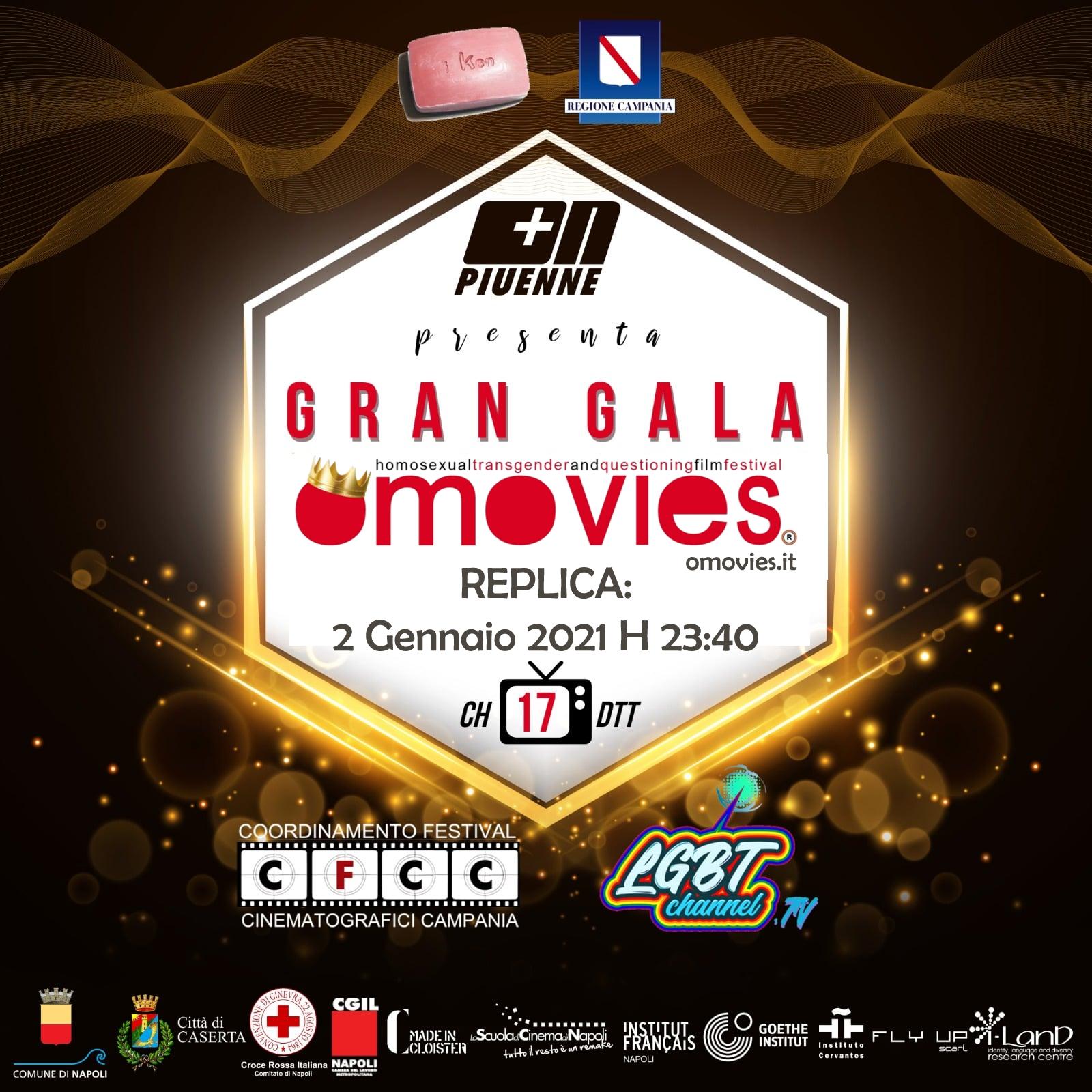 Gran Gala di Omovies – 🏳️🌈 Replica oggi 2 Gennaio 2021 h 23:40 su Piuenne TV